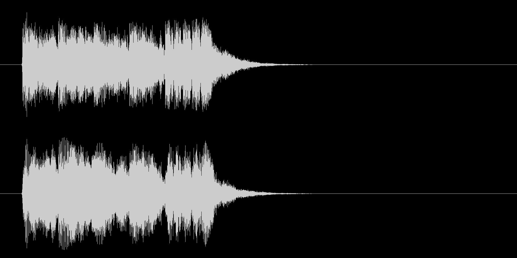 ジングル(力強いオーケストラ風)の未再生の波形