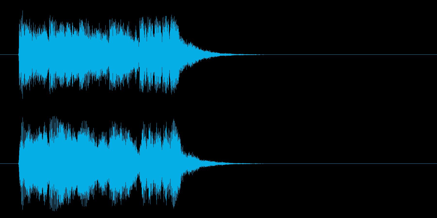 ジングル(力強いオーケストラ風)の再生済みの波形