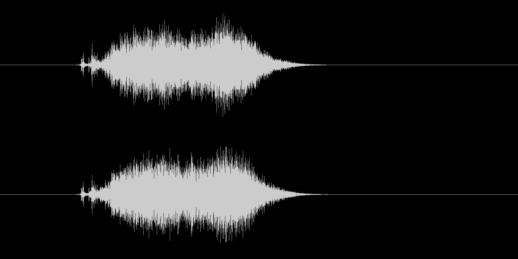 ビリ〜!紙を勢いよく破る 効果音 03の未再生の波形