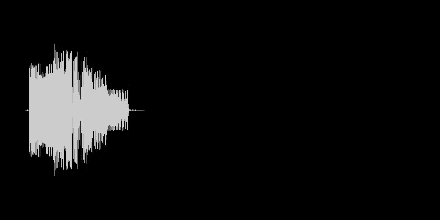 ポチッ(ボタン、スイッチ、押す)の未再生の波形