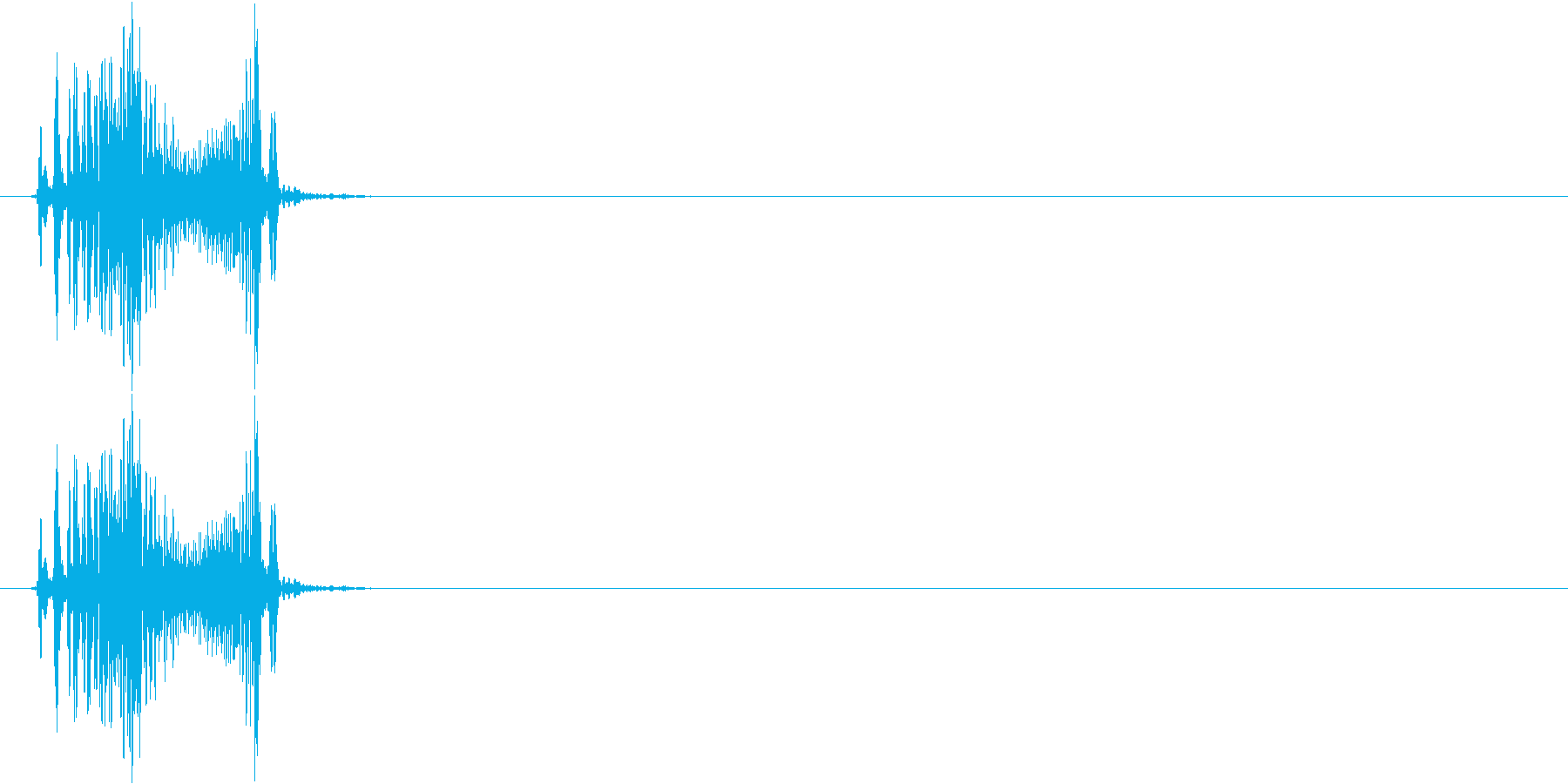 ジッパー開けるの再生済みの波形