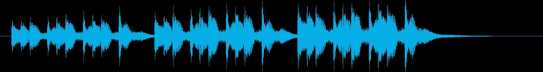 三本締め(一本締め×3)の再生済みの波形