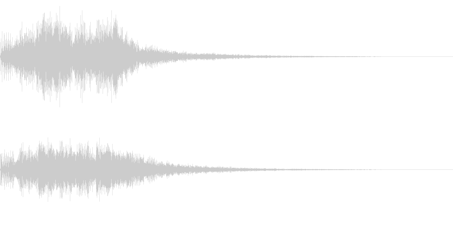 澄んだ感じのセレクト音 決定 スタート音の未再生の波形