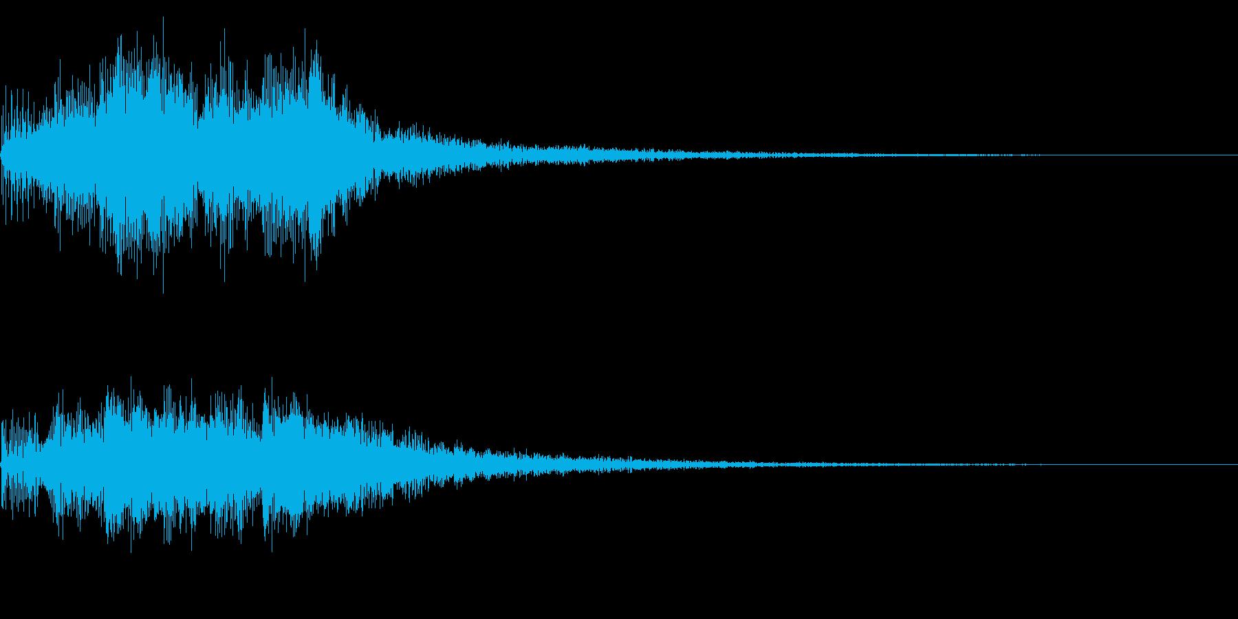 澄んだ感じのセレクト音 決定 スタート音の再生済みの波形