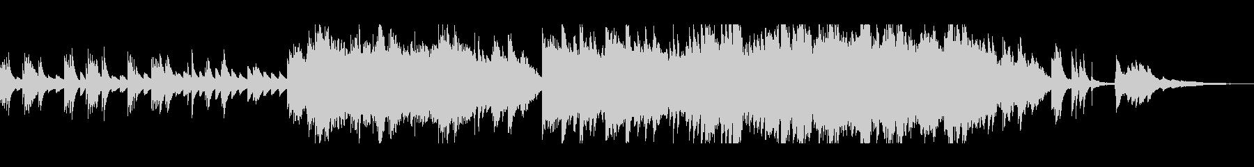 ピアノとストリングスの優しいサウンドの未再生の波形