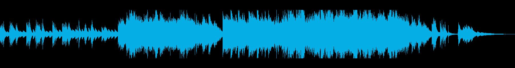ピアノとストリングスの優しいサウンドの再生済みの波形