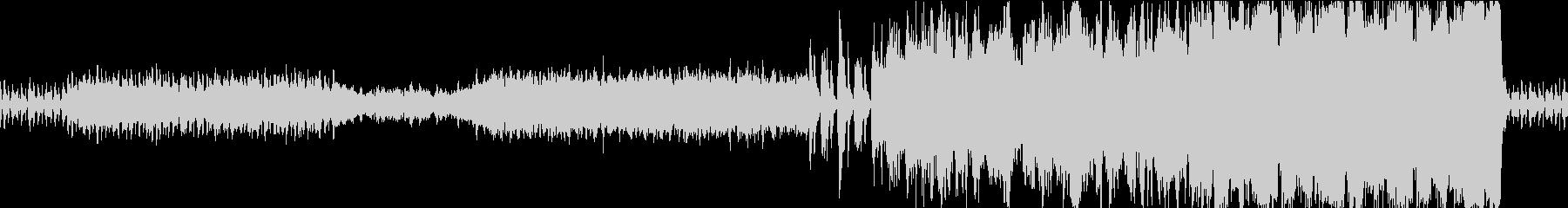 オーケストラ マイナー調の行進曲風ループの未再生の波形