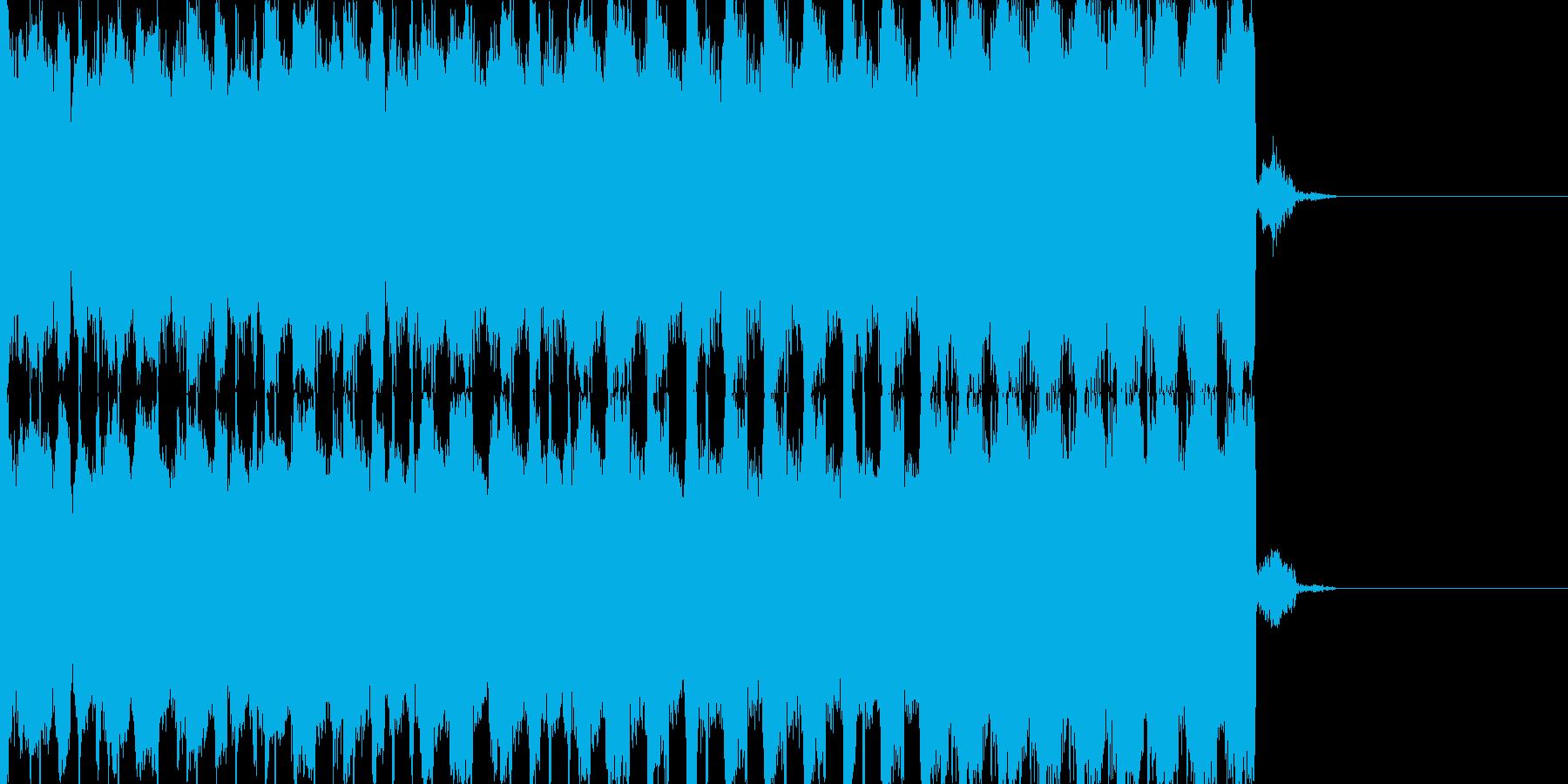 EDMシンセ&ドラムロールビルドアップの再生済みの波形