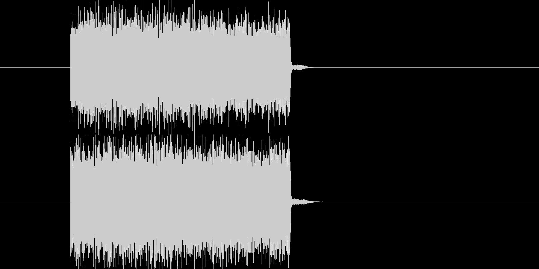 テレビ・ラジオのノイズ(高音)の未再生の波形