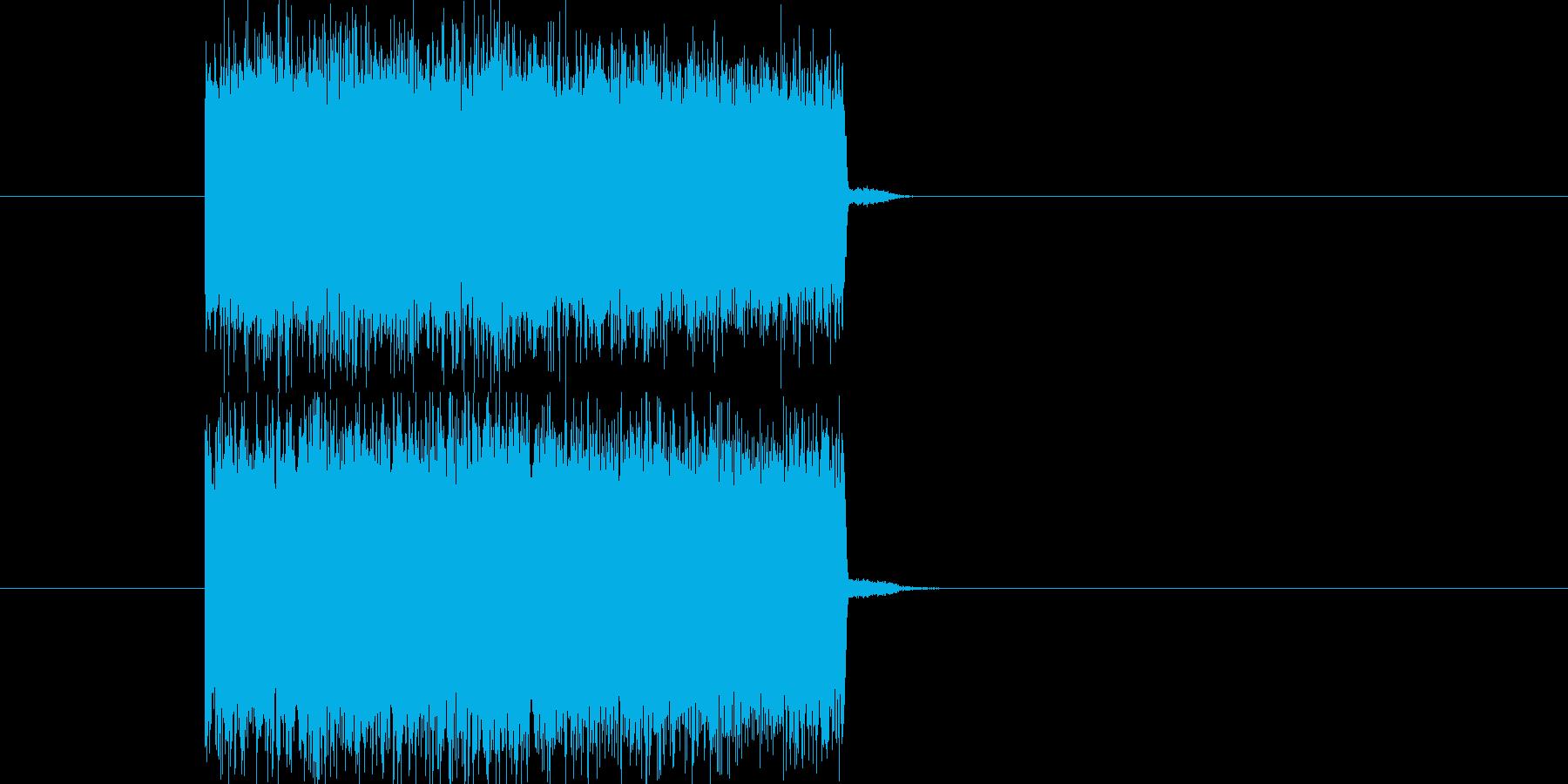 テレビ・ラジオのノイズ(高音)の再生済みの波形