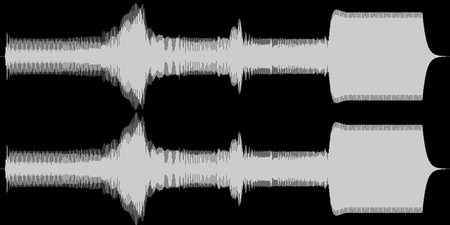 ピュゥゥイ。上がる・伸びる音(長)の未再生の波形