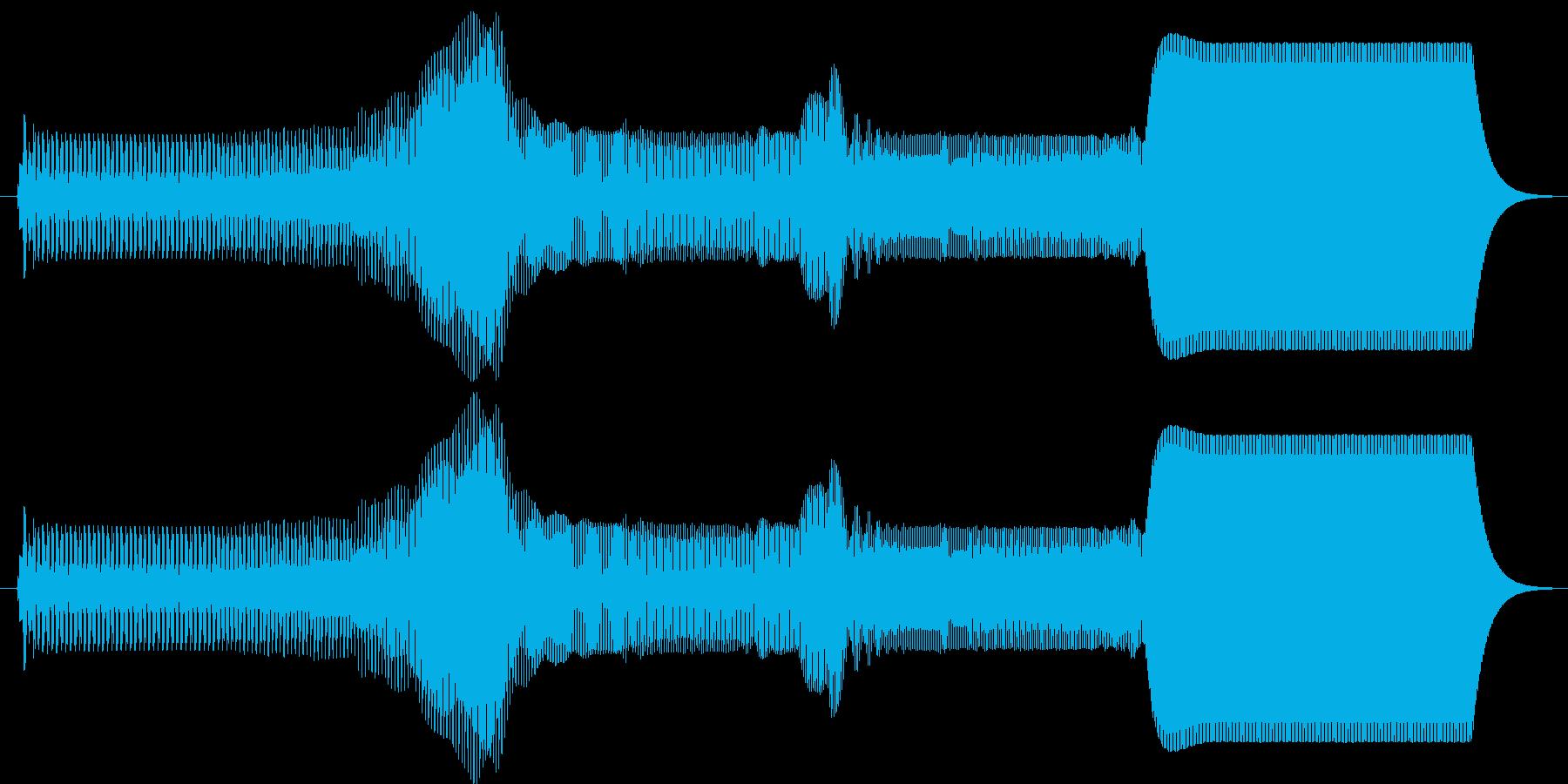 ピュゥゥイ。上がる・伸びる音(長)の再生済みの波形