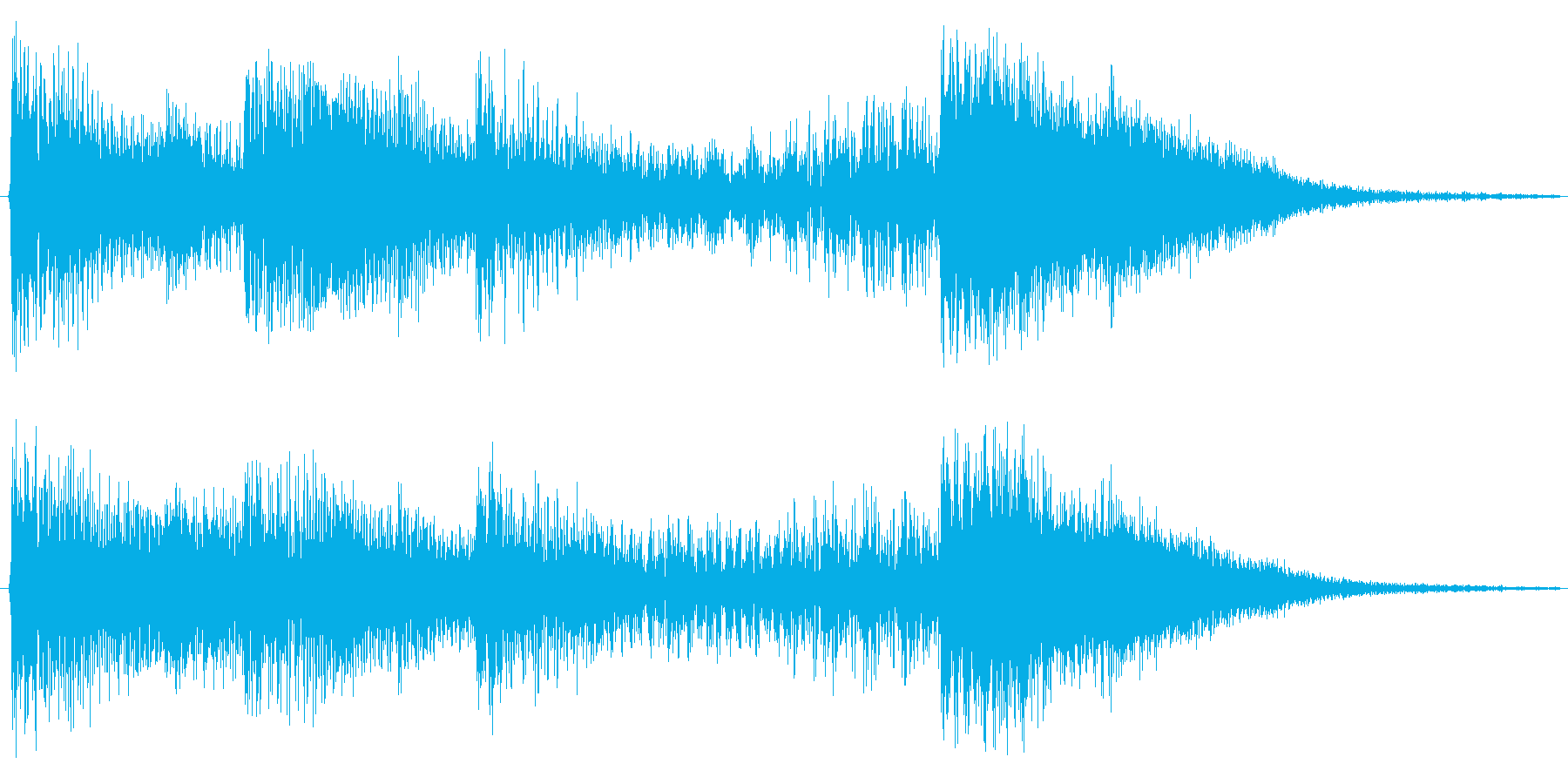 アニメなどのアイキャッチを華やかな音で…の再生済みの波形