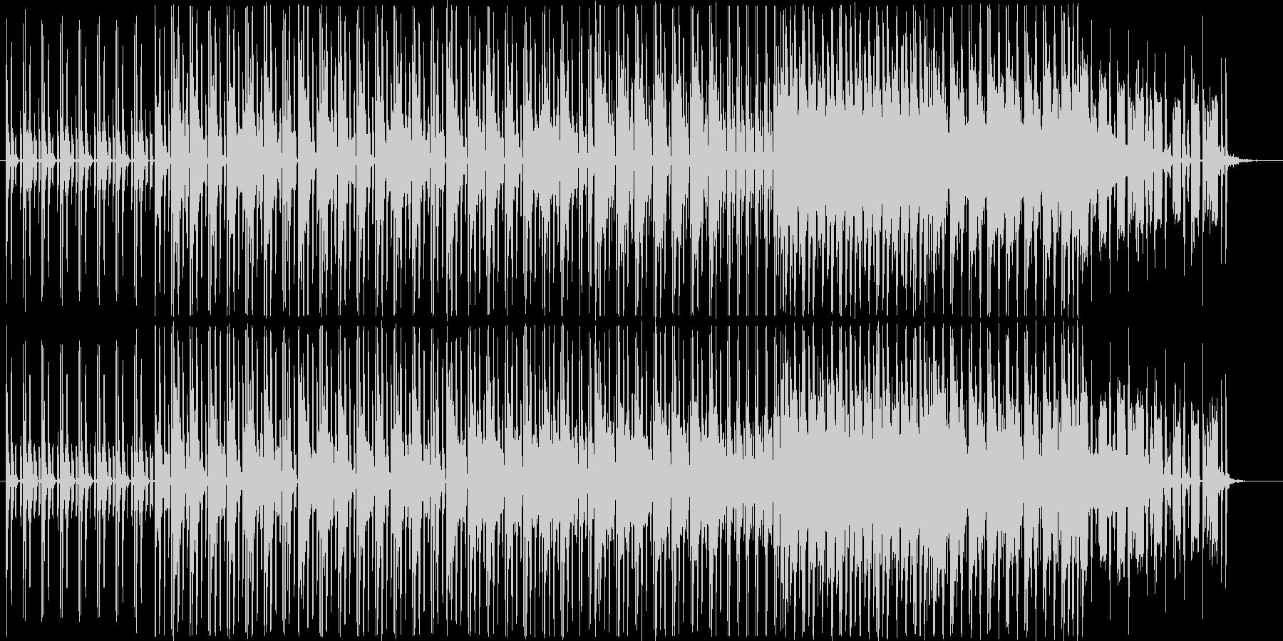 テクノポップの近未来的なビートの未再生の波形