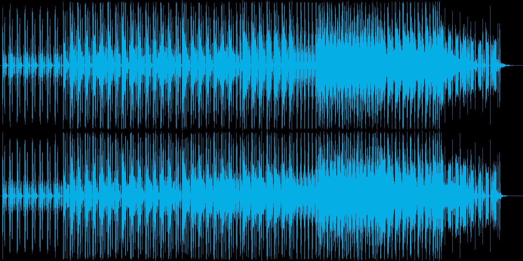 テクノポップの近未来的なビートの再生済みの波形