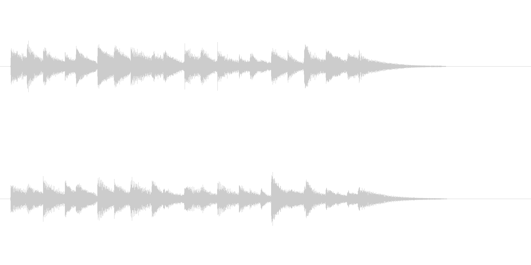 スローでジャジーなピアノジングル2の未再生の波形