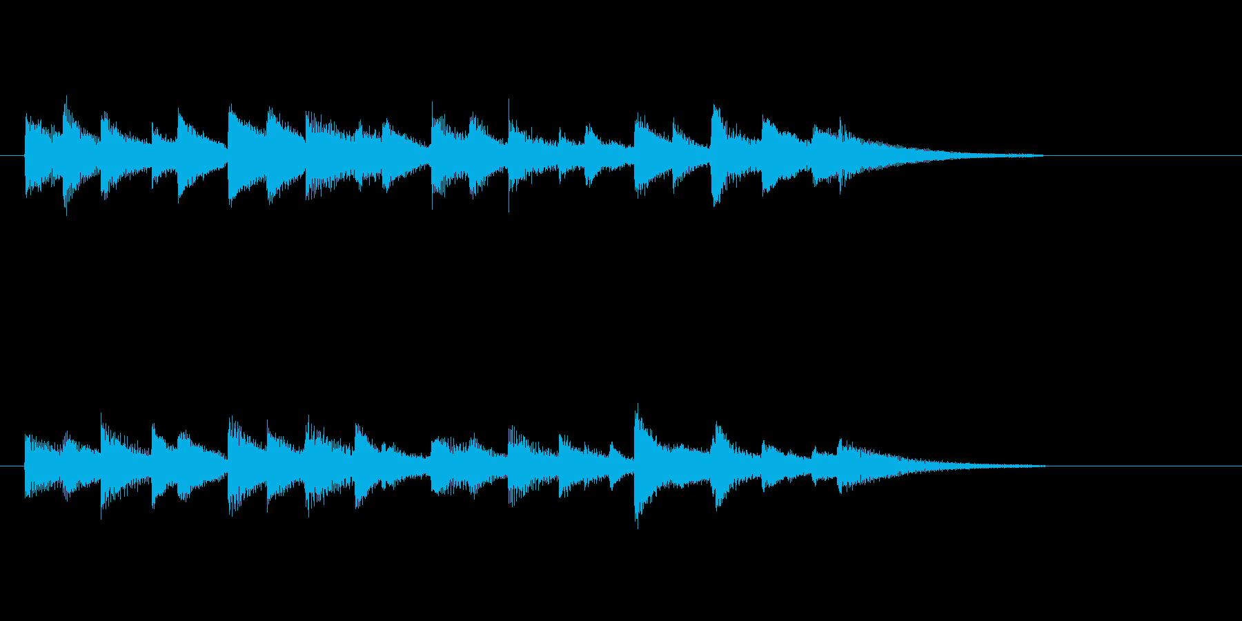 スローでジャジーなピアノジングル2の再生済みの波形
