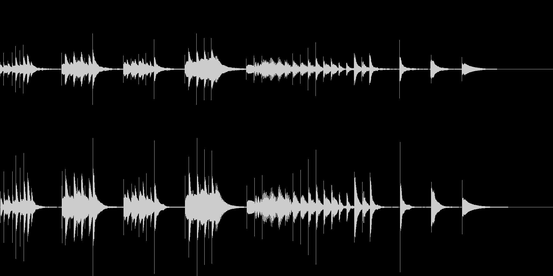 マリンバを使用したジングルの未再生の波形
