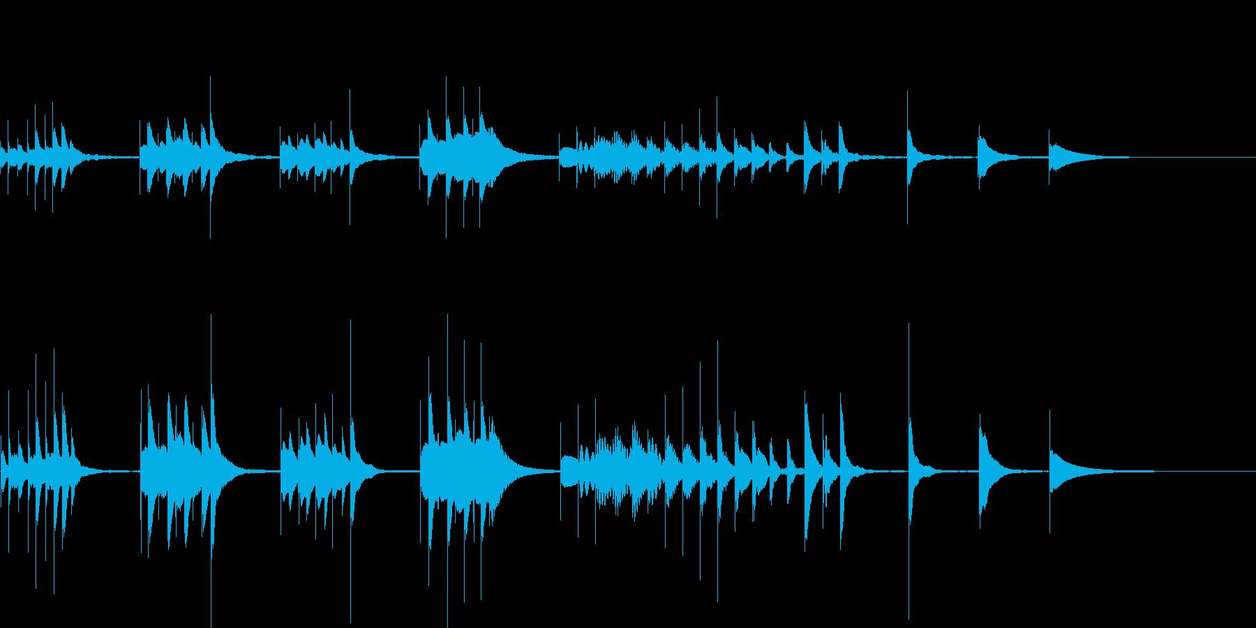 マリンバを使用したジングルの再生済みの波形