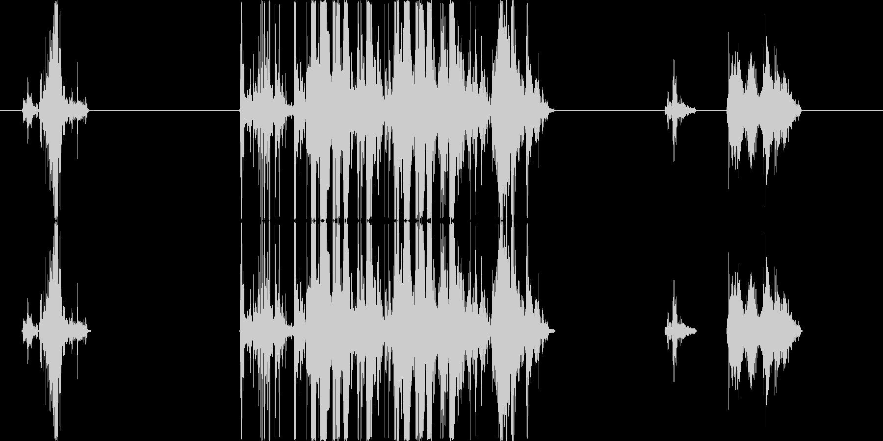 ガンさばきの音の未再生の波形