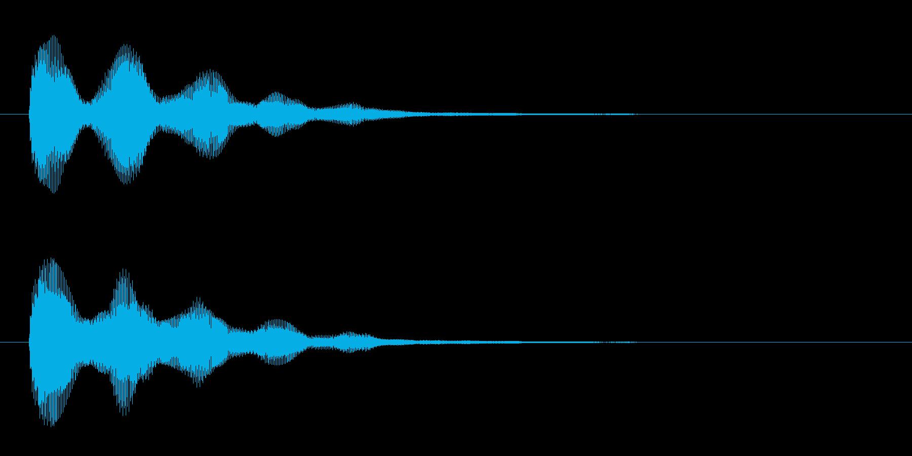 アプリ・ゲームの決定音_007の再生済みの波形