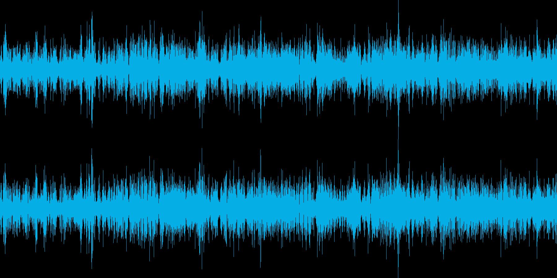 ボボ..パチパチ。炎・燃える音C(長)の再生済みの波形