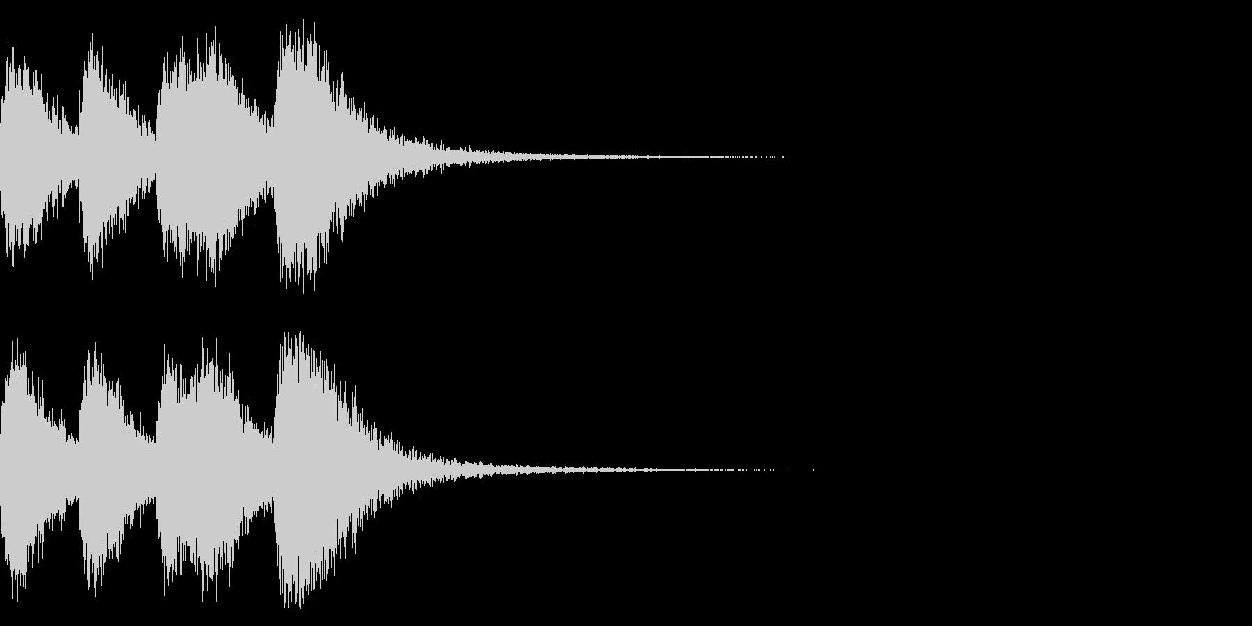 オーケストラヒット ジングル! 04cの未再生の波形