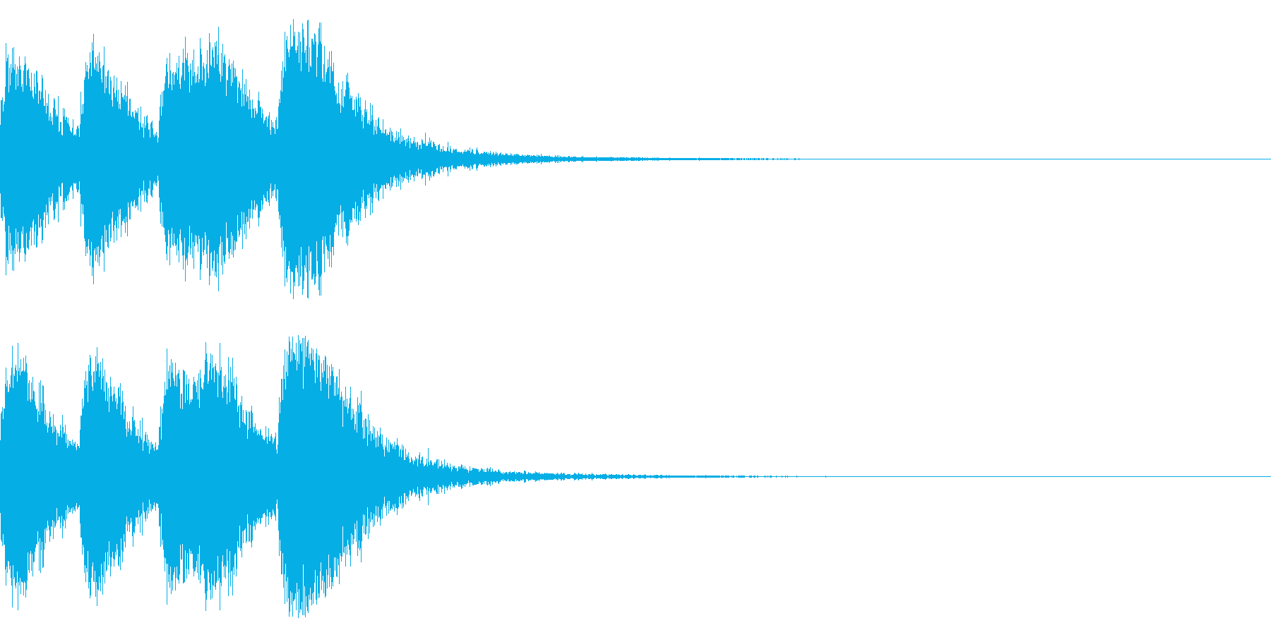 オーケストラヒット ジングル! 04cの再生済みの波形