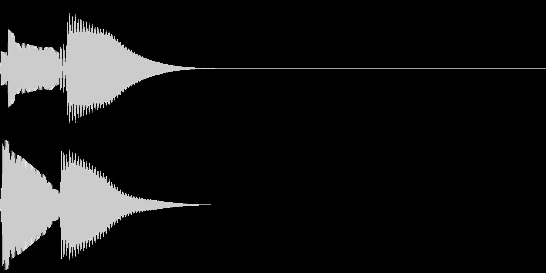 ピコ(電子音_シンプル)の未再生の波形