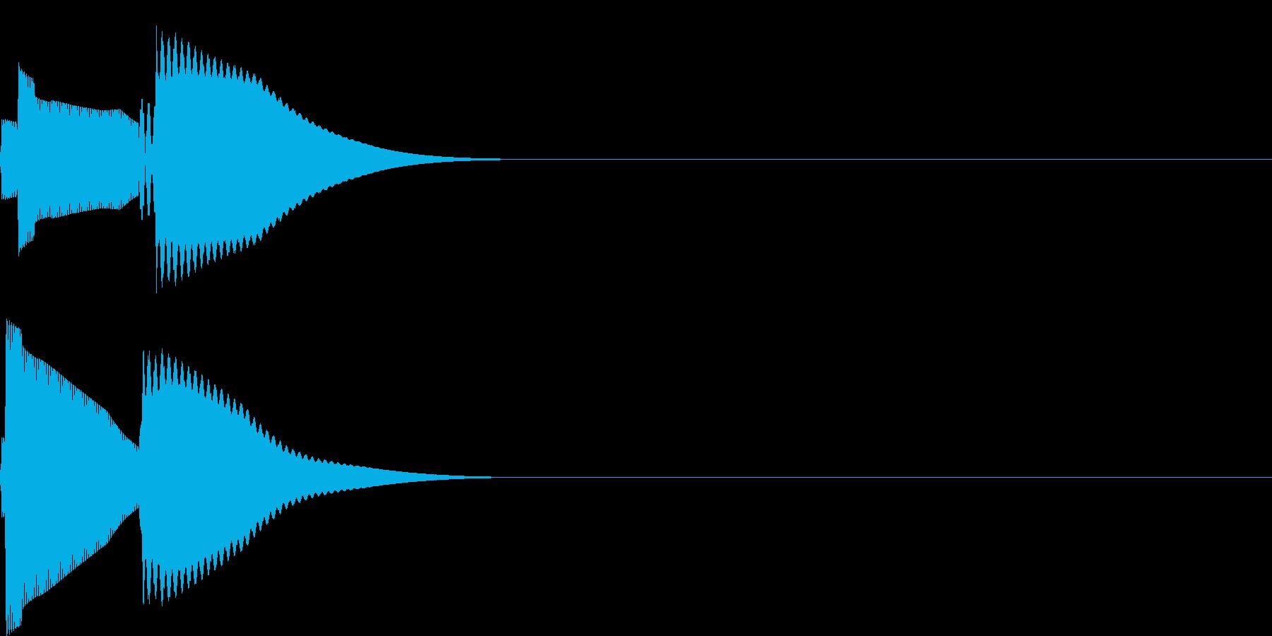 ピコ(電子音_シンプル)の再生済みの波形
