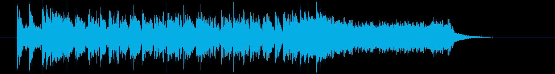 疾走感とドキドキ感のシンセギターサウンドの再生済みの波形