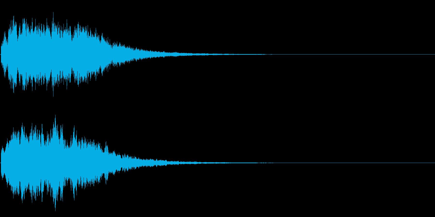 ゲームスタート、決定、ボタン音-049の再生済みの波形
