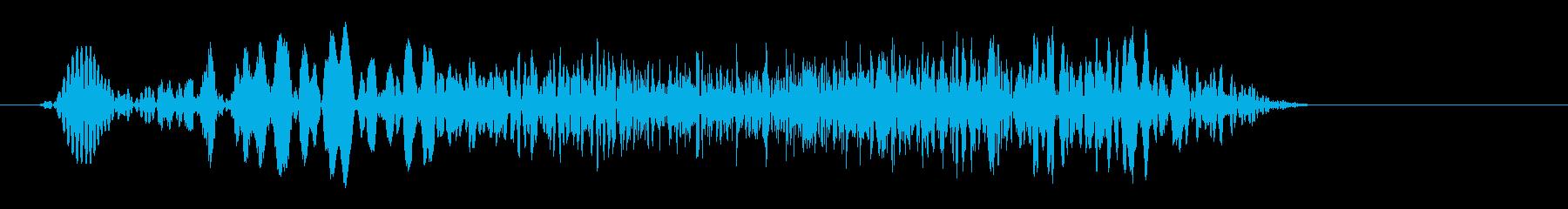 フィ〜シュという摩擦音の再生済みの波形