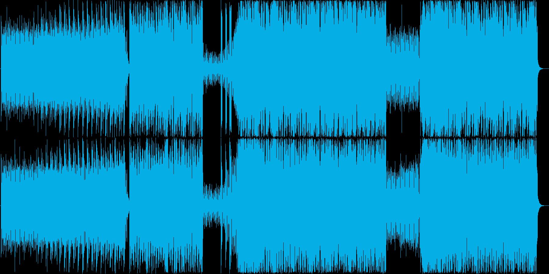 クレイジーな状況のテクノ&デジタルロックの再生済みの波形