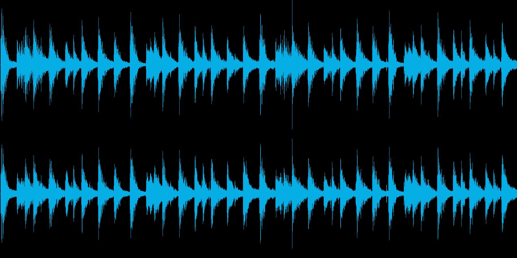 エスニック風のシンセジングル_ループの再生済みの波形