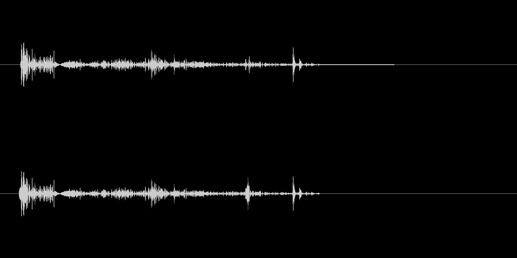 キュルル(物音・足音)の未再生の波形
