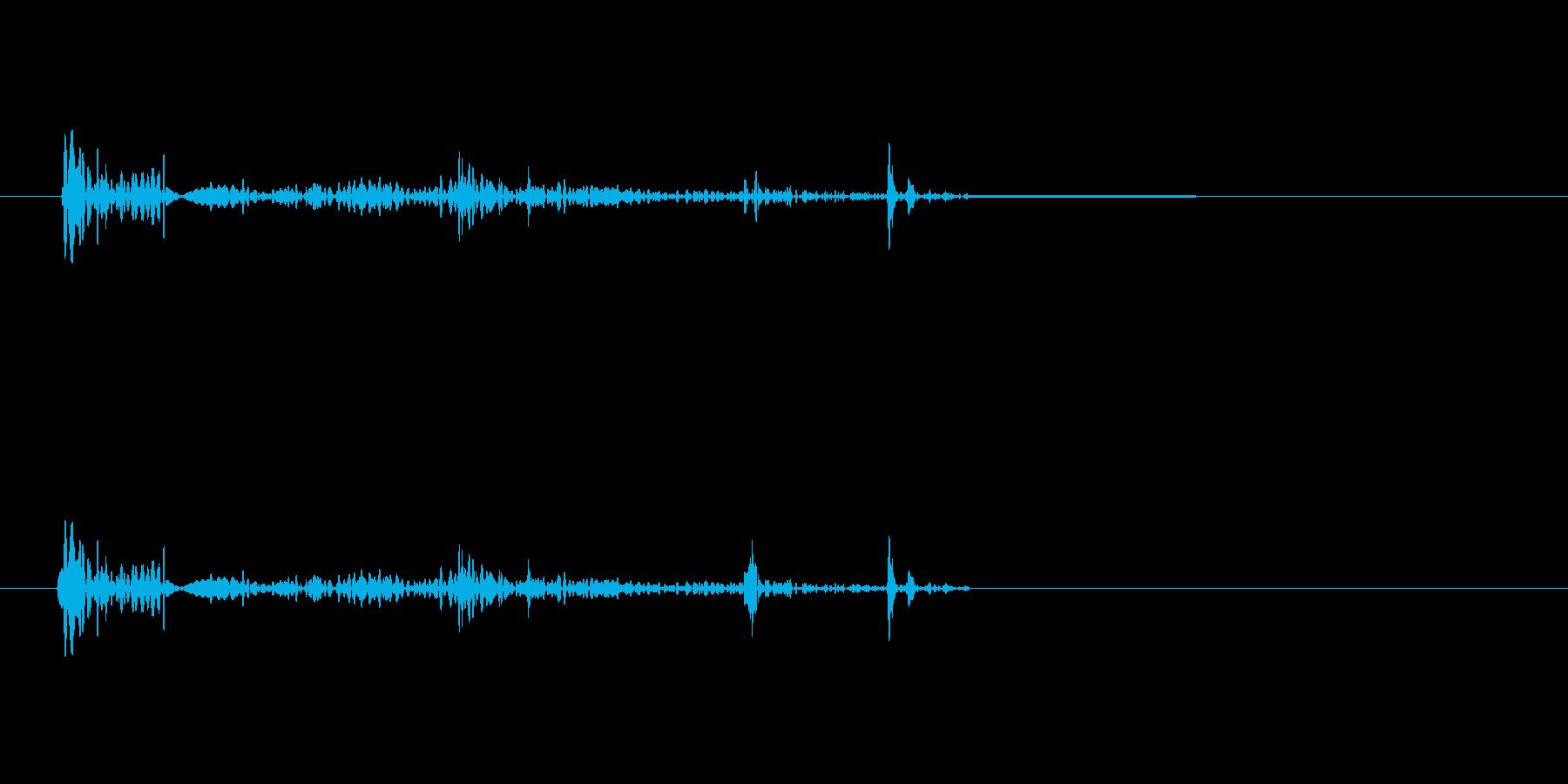 キュルル(物音・足音)の再生済みの波形