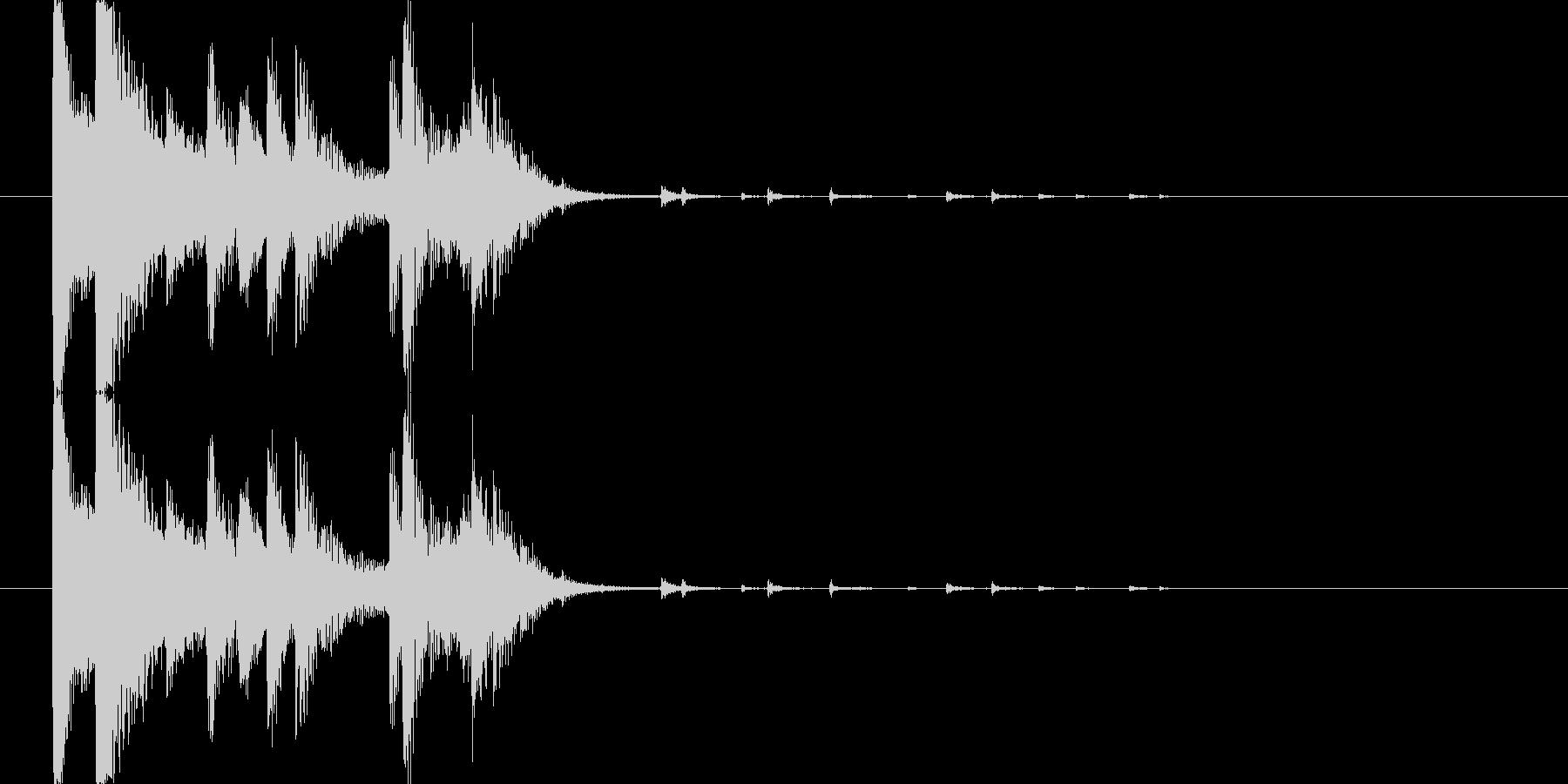 カランカラン(食器の物音)の未再生の波形