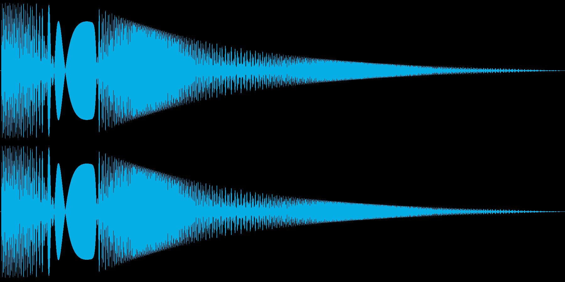 ボヨヨンと柔らかいものが揺れる03の再生済みの波形