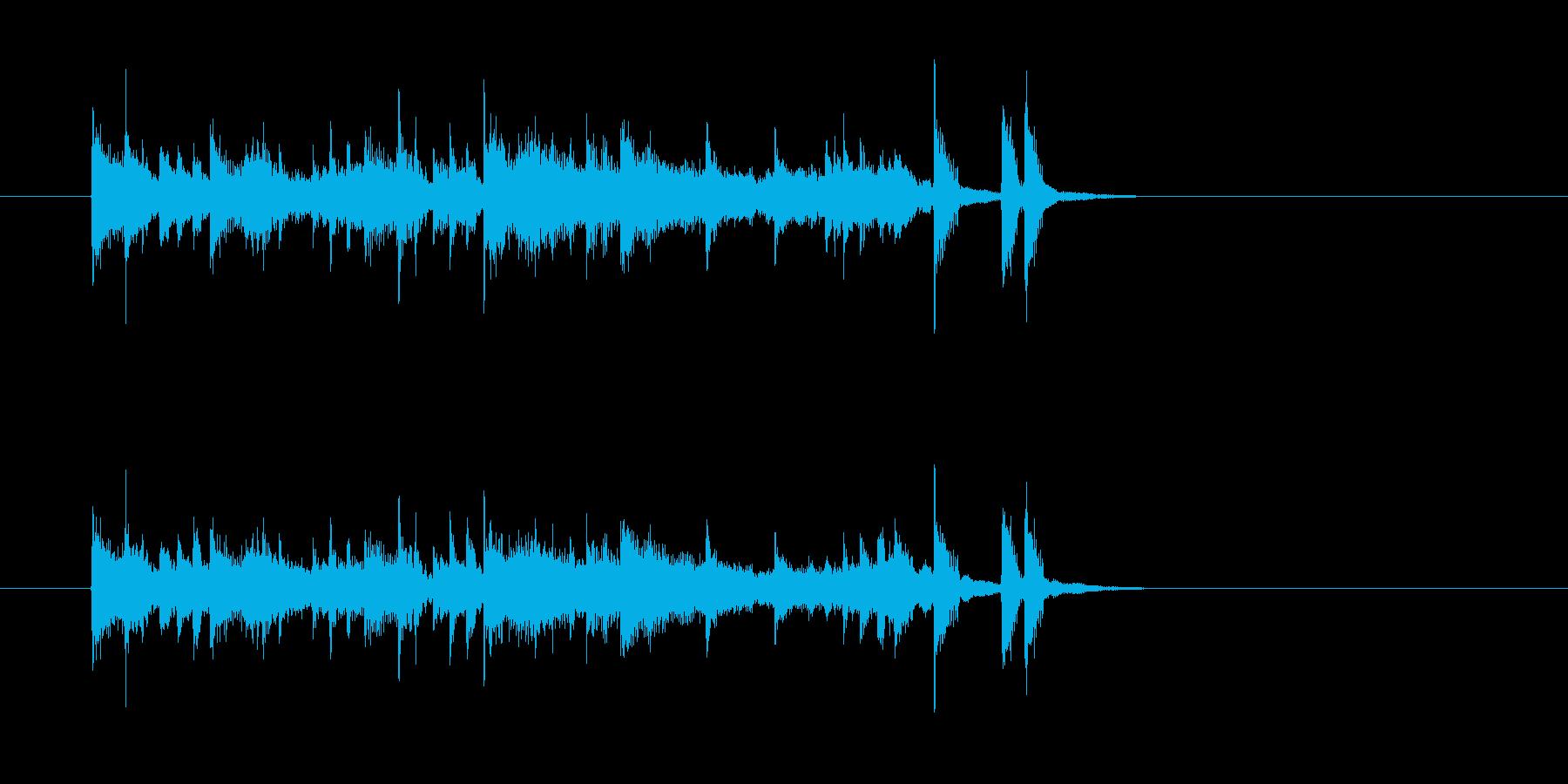 ニュース 報道番組 知的 シンセサイザーの再生済みの波形