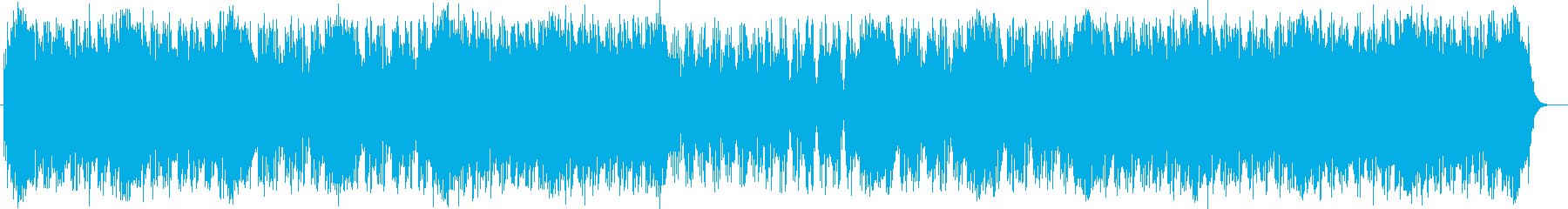 スピード感がある暗めのテクノの再生済みの波形