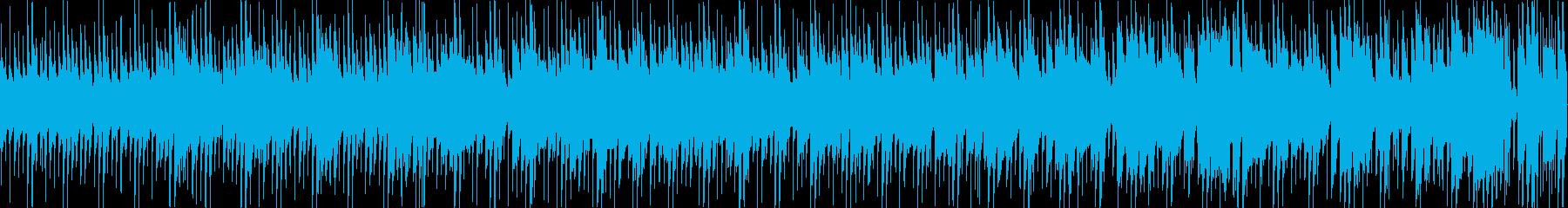 ギラギラした常夏の国のサルサBGMの再生済みの波形
