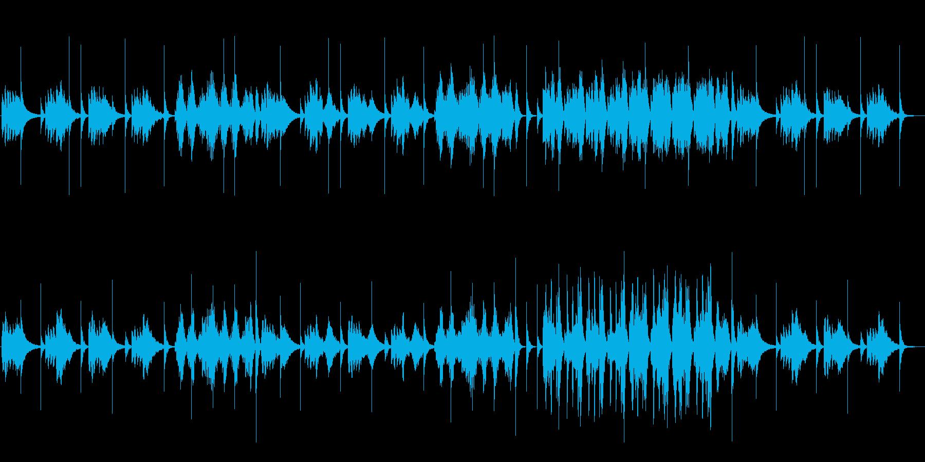 瑞々しさ安心感のあるヒーリングの曲の再生済みの波形