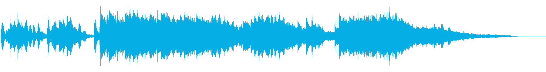 CM向けの尺で製作してます。ピアノソロ…の再生済みの波形