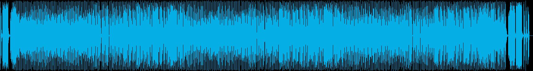 コミカルなポップス曲の再生済みの波形