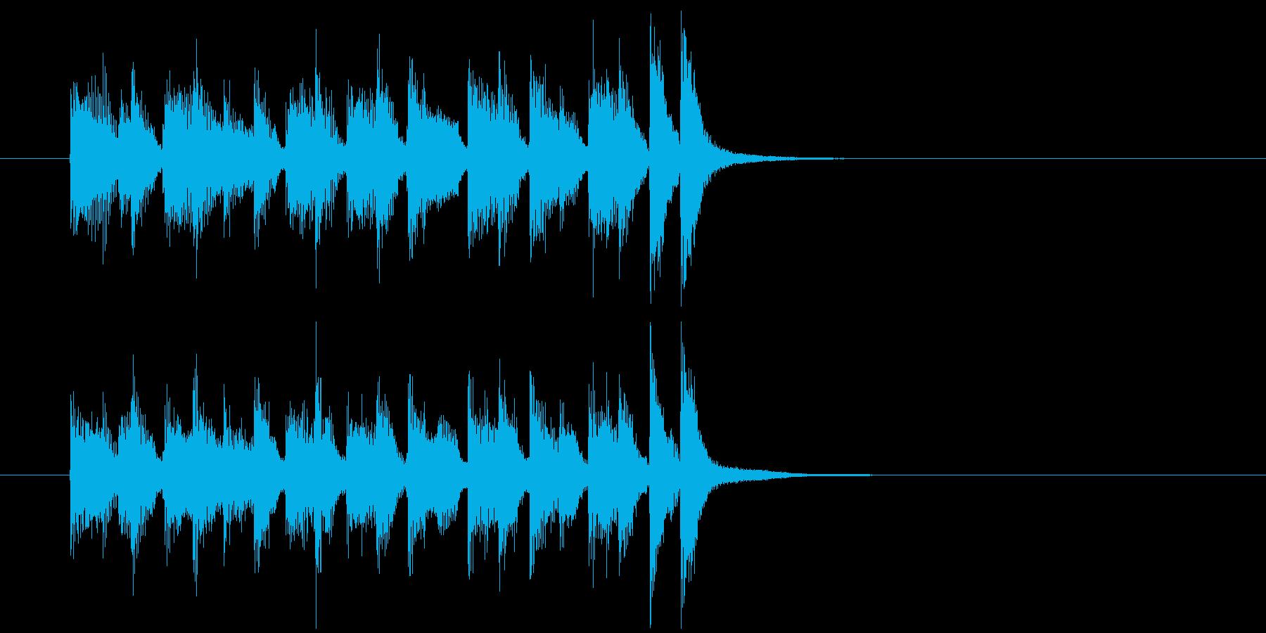 ジングル(場面転換風)の再生済みの波形