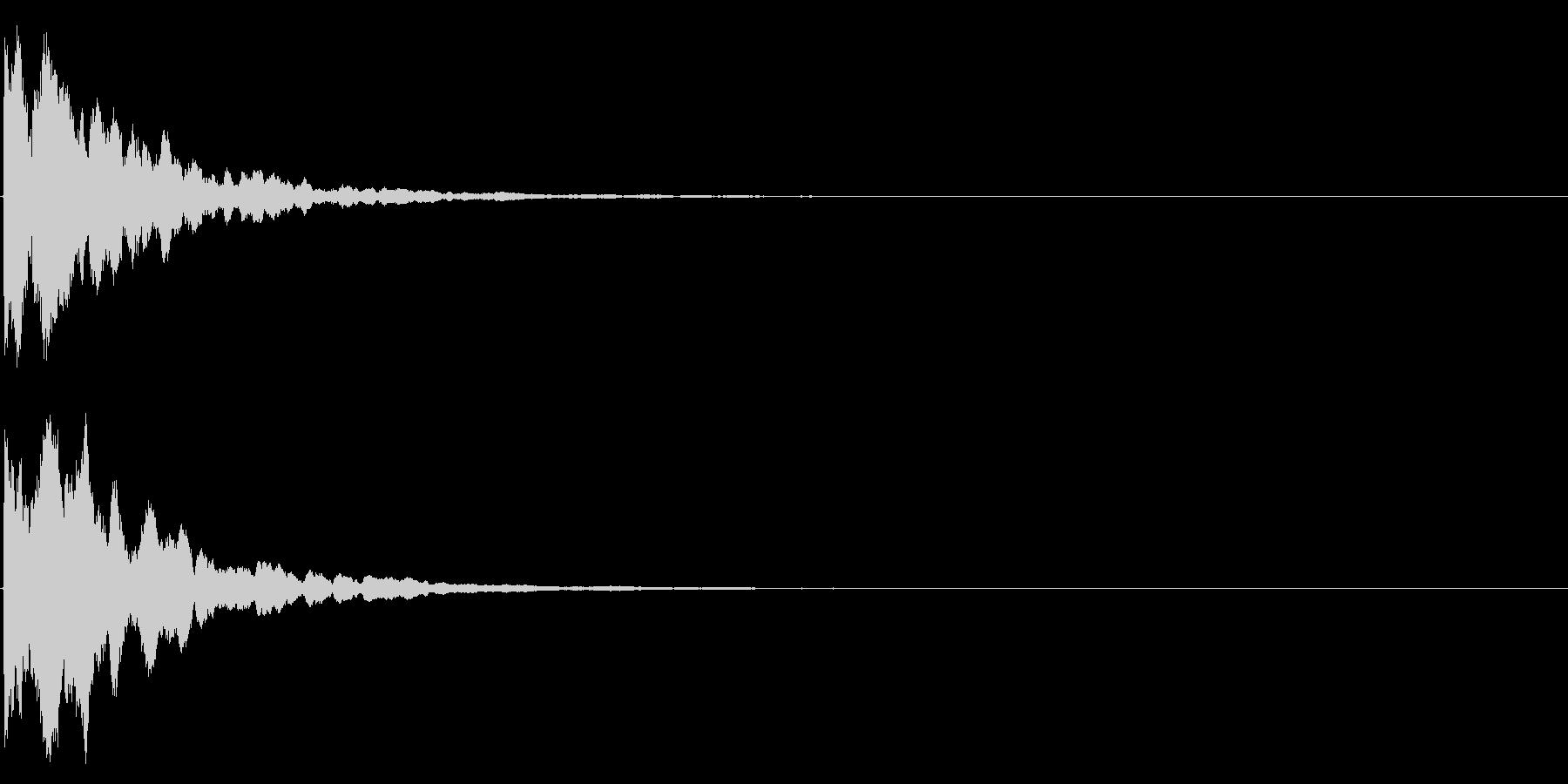 ゲームスタート、決定、ボタン音-017の未再生の波形