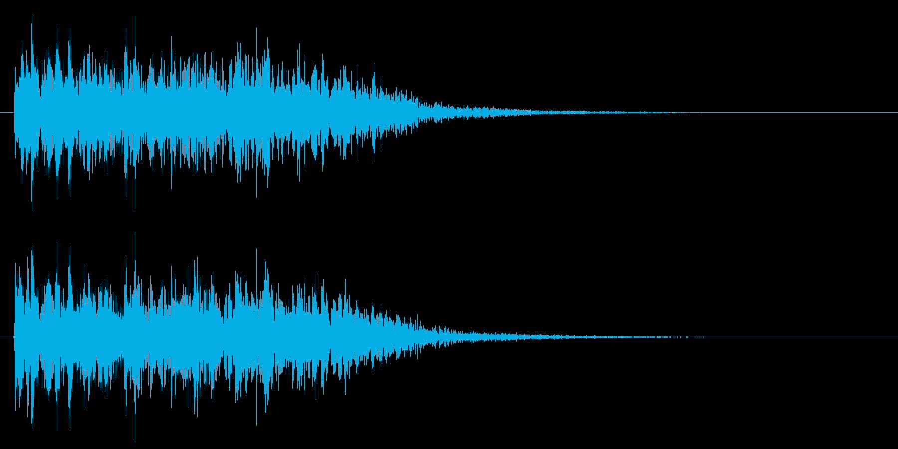 レーザービーム 光線銃 ピロピロ音の再生済みの波形