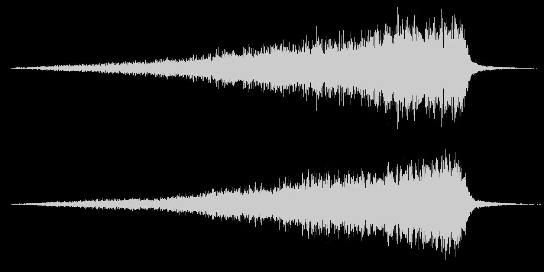フルオケ音源による開始のフェードインの未再生の波形