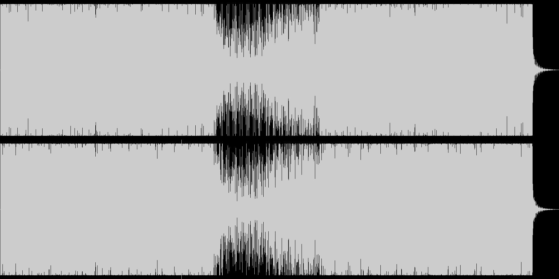 オシャレな4つ打ちピアノハウス-ロングの未再生の波形